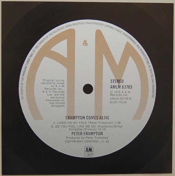 Back Label (disk 2), Frampton, Peter - Frampton Comes Alive! (+4)