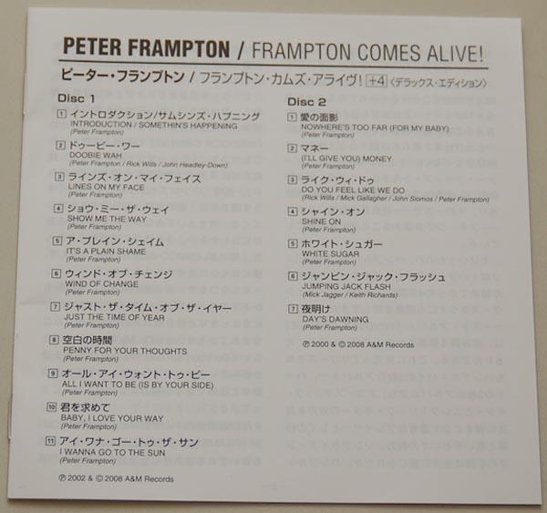 Lyric book, Frampton, Peter - Frampton Comes Alive! (+4)