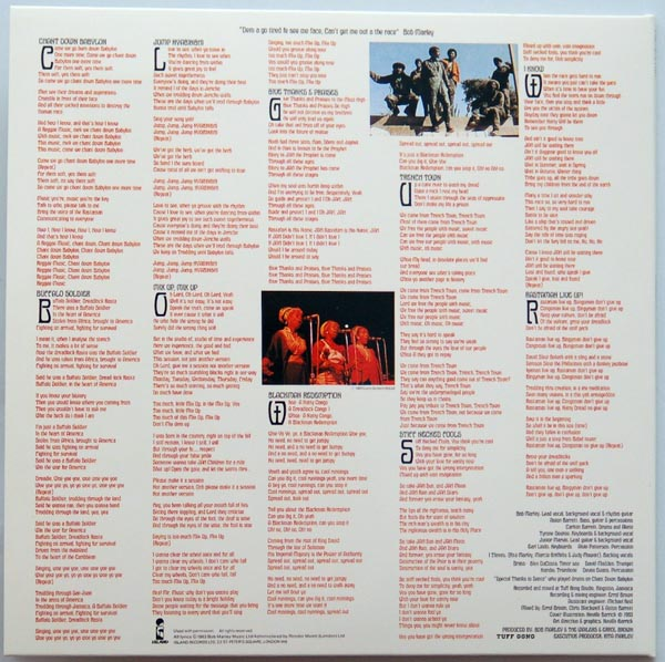 Back cover, Marley, Bob - Confrontation