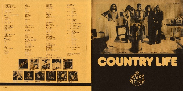 Japanese insert outside, Roxy Music - Country Life