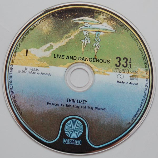 CD, Thin Lizzy - Live and Dangerous