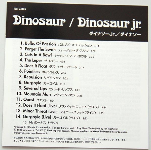 Lyric book, Dinosaur Jr. - Dinosaur