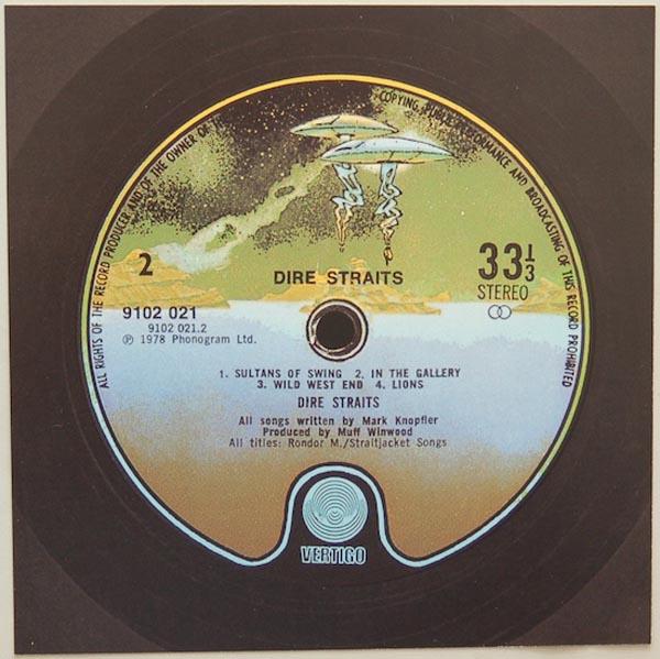 Back Label, Dire Straits - Dire Straits