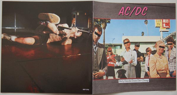 Booklet, AC/DC - Dirty Deeds Done Dirt Cheap