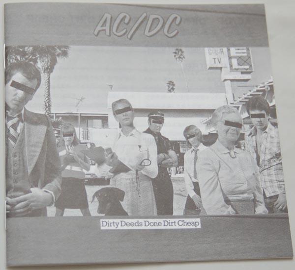 Lyric book, AC/DC - Dirty Deeds Done Dirt Cheap