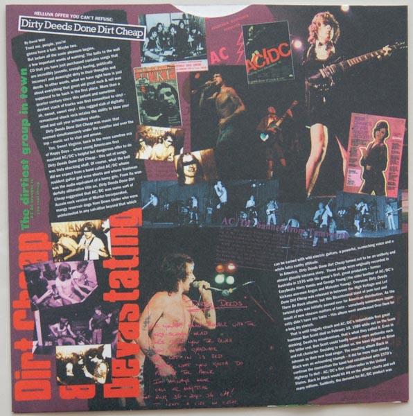 Inner sleeve side A, AC/DC - Dirty Deeds Done Dirt Cheap