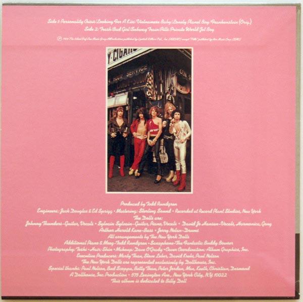 Back cover, New York Dolls - New York Dolls