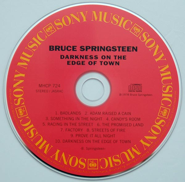 CD, Springsteen, Bruce - Darkness On The Edge Of Town