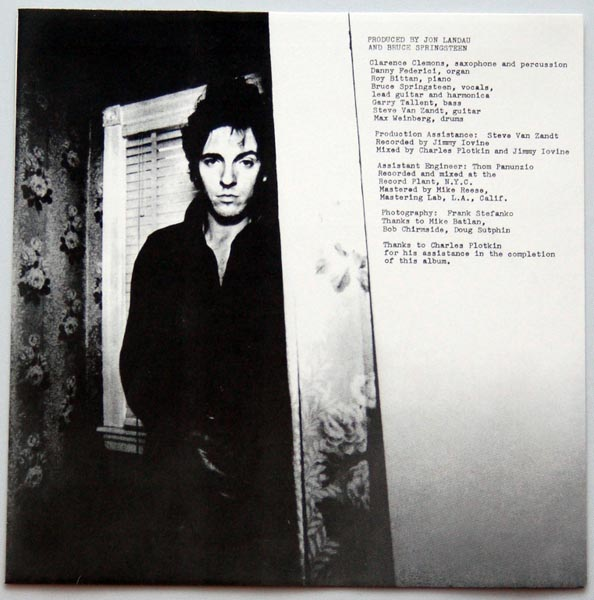 Inner sleeve A, Springsteen, Bruce - Darkness On The Edge Of Town