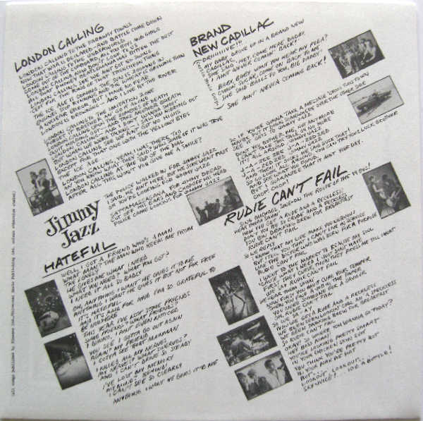 Inner Sleeve, Clash (The) - London Calling