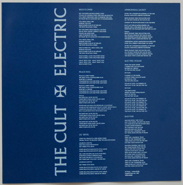 insert, Cult (The) - Electric