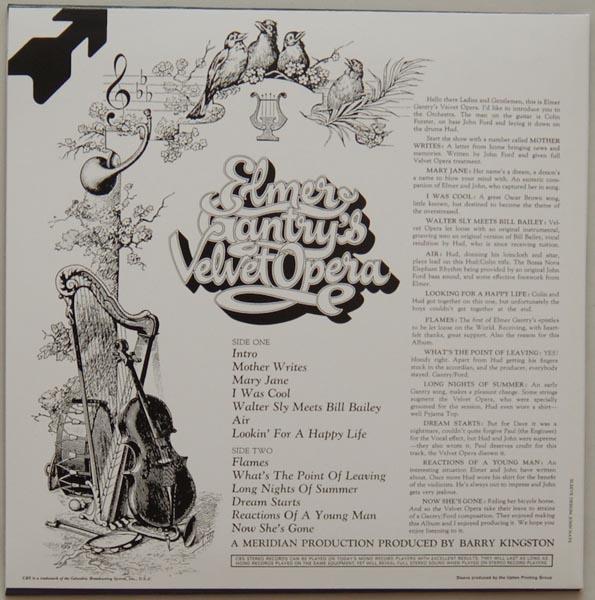 Back cover, Gantry, Elmer Velvet Opera - Elmer Gantry's Velvet Opera