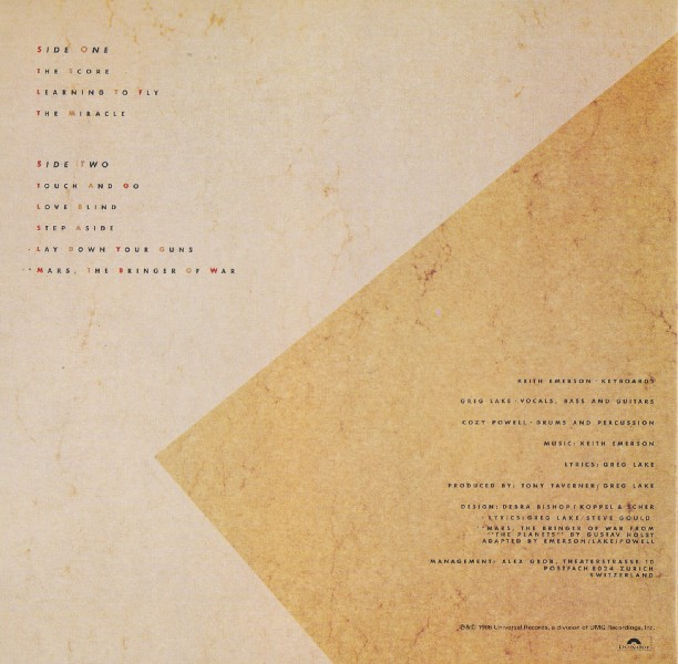 back, Emerson, Lake + Powell - Emerson, Lake and Powell