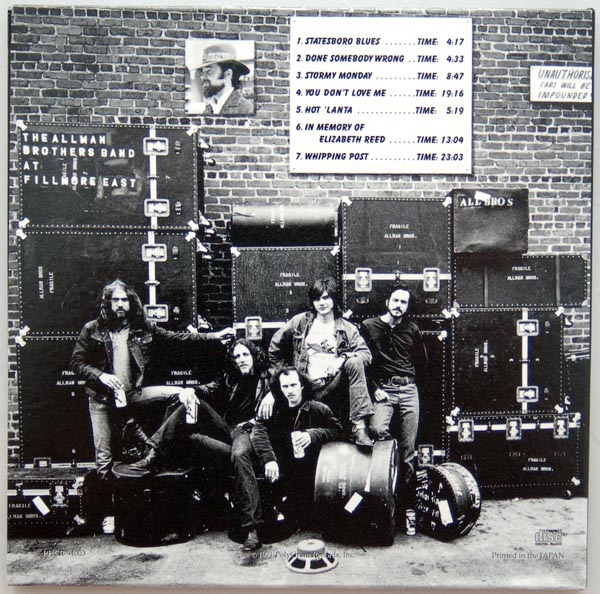 Back cover, Allman Brothers Band (The) - At Fillmore East