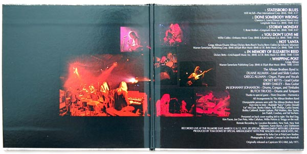 Gatefold open, Allman Brothers Band (The) - At Fillmore East