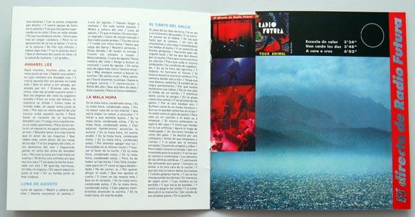 Booklet pages 10-11, Radio Futura - Caja de Canciones