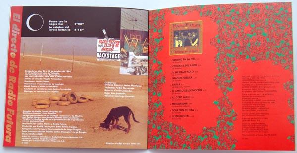 Booklet pages 14-15, Radio Futura - Caja de Canciones
