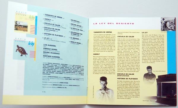 Booklet pages 2-3, Radio Futura - Caja de Canciones