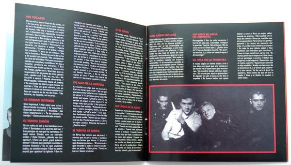 Booklet pages 6-7, Radio Futura - Caja de Canciones