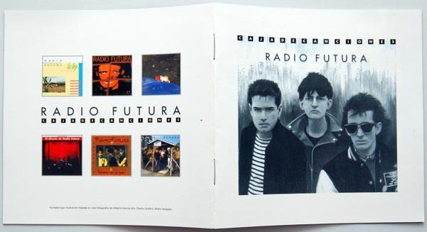 First and last booklet pages, Radio Futura - Caja de Canciones