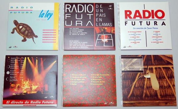 The 6 back covers, Radio Futura - Caja de Canciones