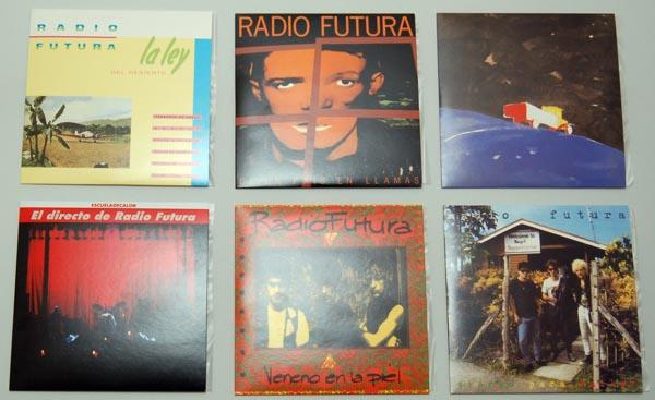The 6 front covers, Radio Futura - Caja de Canciones
