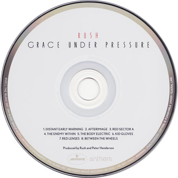 Grace Under Pressure CD, Rush - Sector 3