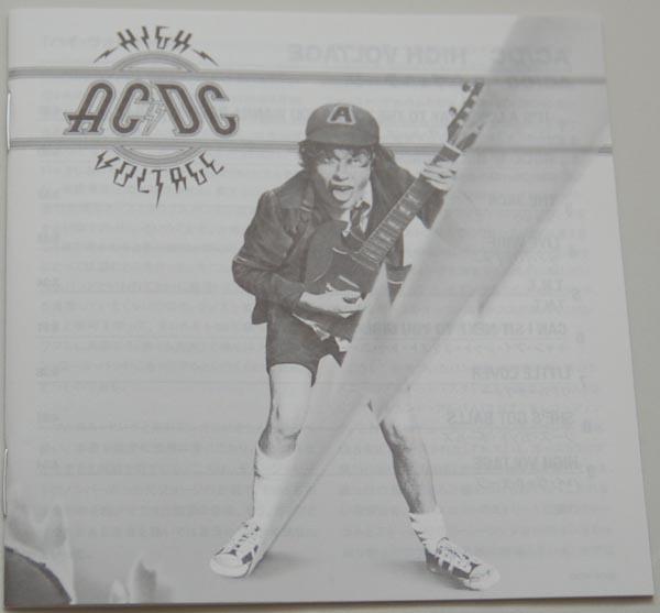 Lyric book, AC/DC - High Voltage