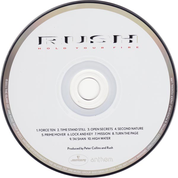 Hold Your Fire CD, Rush - Sector 3