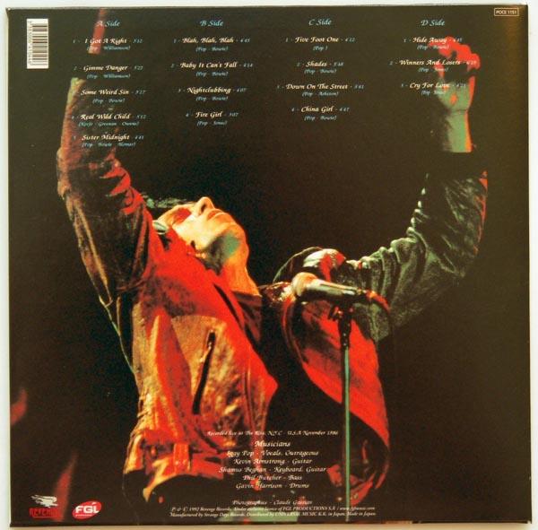 Back cover, Pop, Iggy - Live Ritz N.Y.C.86