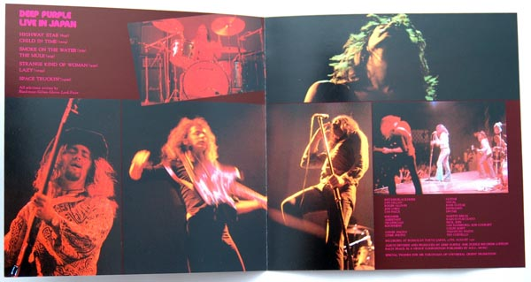 Insert inner view, Deep Purple - Live in Japan / Made in Japan
