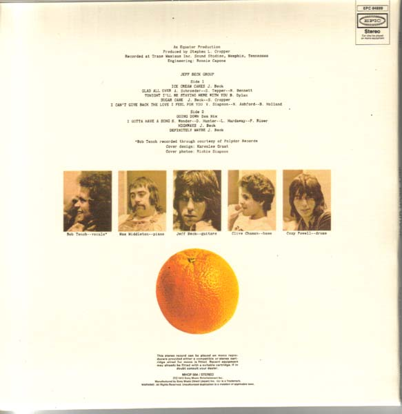 Back cover, Beck, Jeff - Jeff Beck Group