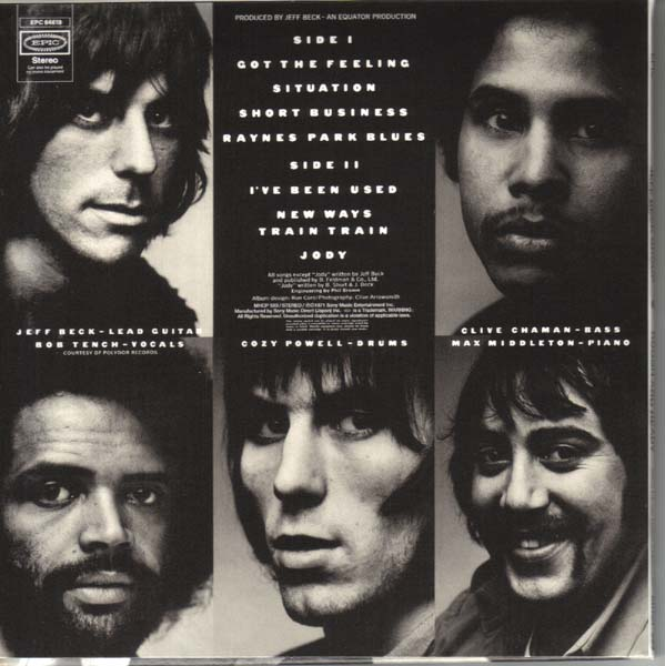 Back cover, Beck, Jeff - Rough and Ready