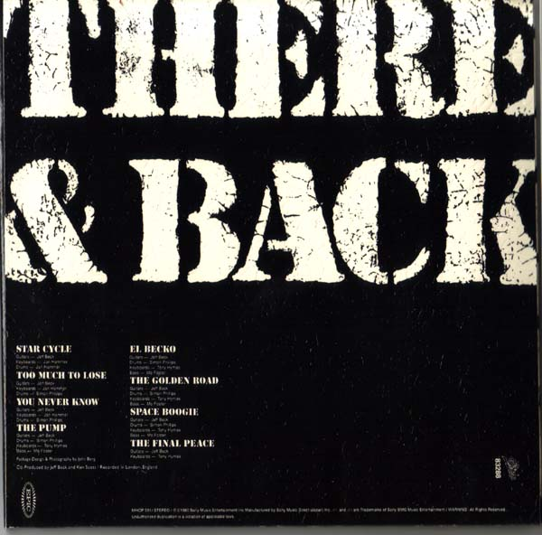 Back cover, Beck, Jeff - There and Back