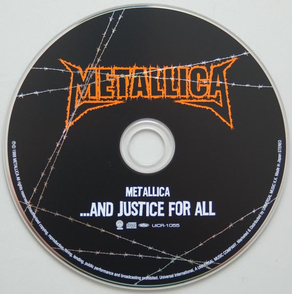 CD, Metallica - ...And Justice for All