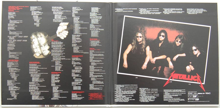 Gatefold open, Metallica - ...And Justice for All
