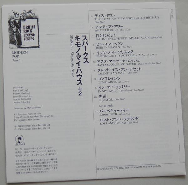 Lyric book, Sparks - Kimono My House