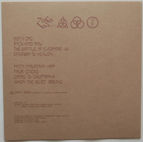 Inner sleeve side A, Led Zeppelin - IV (aka Zoso)