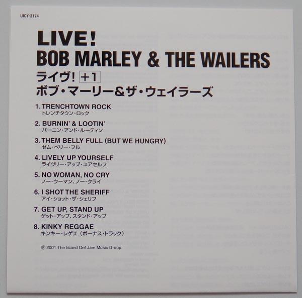 Lyric book, Marley, Bob - Live!