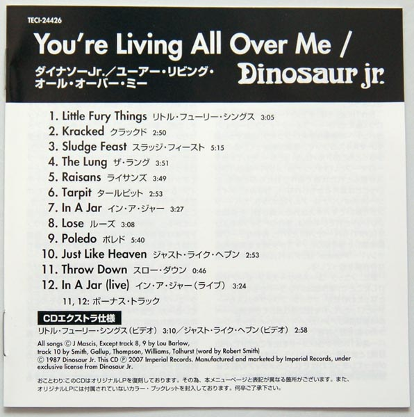 Lyric book, Dinosaur Jr. -