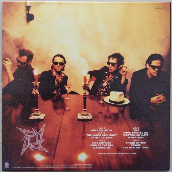 Back cover, Metallica - Load