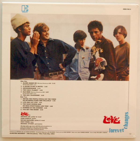 Back cover, Love - Forever Changes