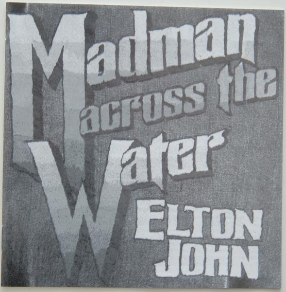 Lyric book, John, Elton - Madman Across The Water