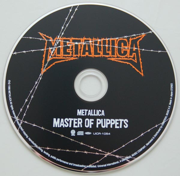 CD, Metallica - Master of Puppets