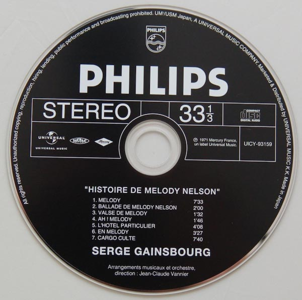 CD, Gainsbourg, Serge - Histoire de Melody Nelson
