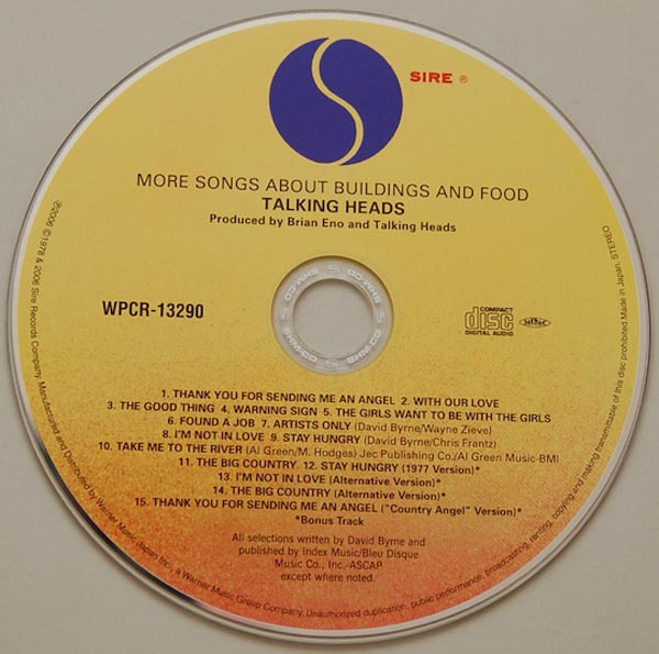 CD, Talking Heads - More Songs About Buildings And Food + 4
