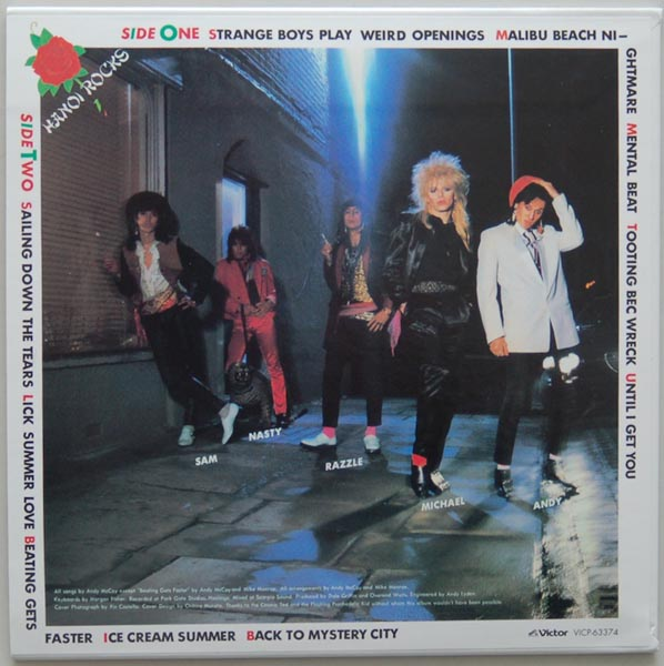 Back cover, Hanoi Rocks - Mystery City