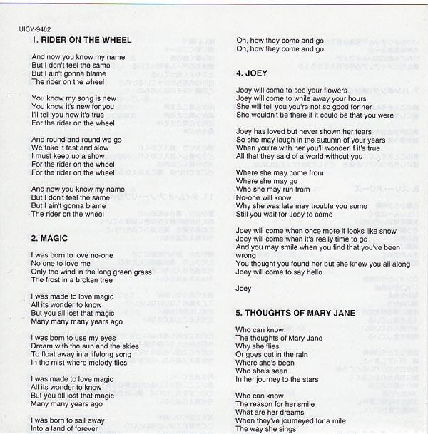 Bilingual Lyric Sheet, Drake, Nick - Made To Love Magic