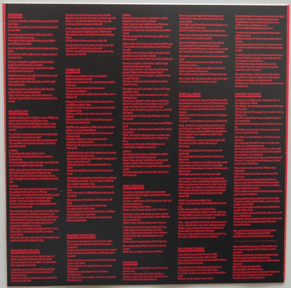 Inner sleeve side B, Springsteen, Bruce - Nebraska
