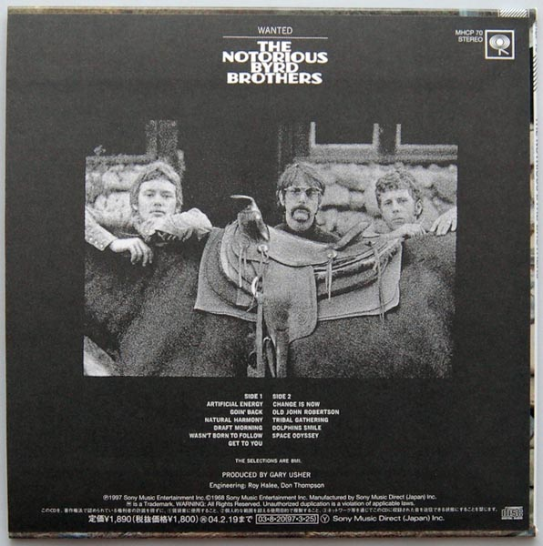 Back cover, Byrds (The) - The Notorious Byrd Brothers (+6